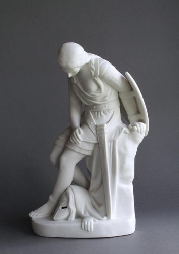 A Minton Parian figure of Clorinda by John Bell
