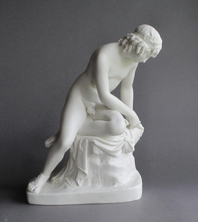 An early Parian figure of Narcissus by Copeland and Garrett