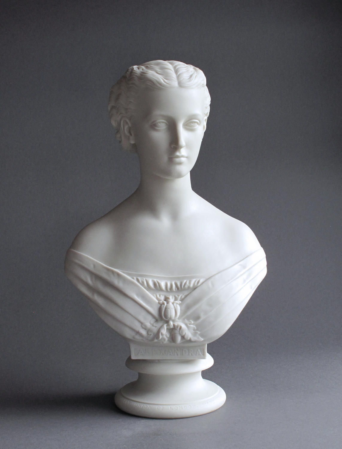 An elegant Parian bust of Princess Alexandra by Copeland
