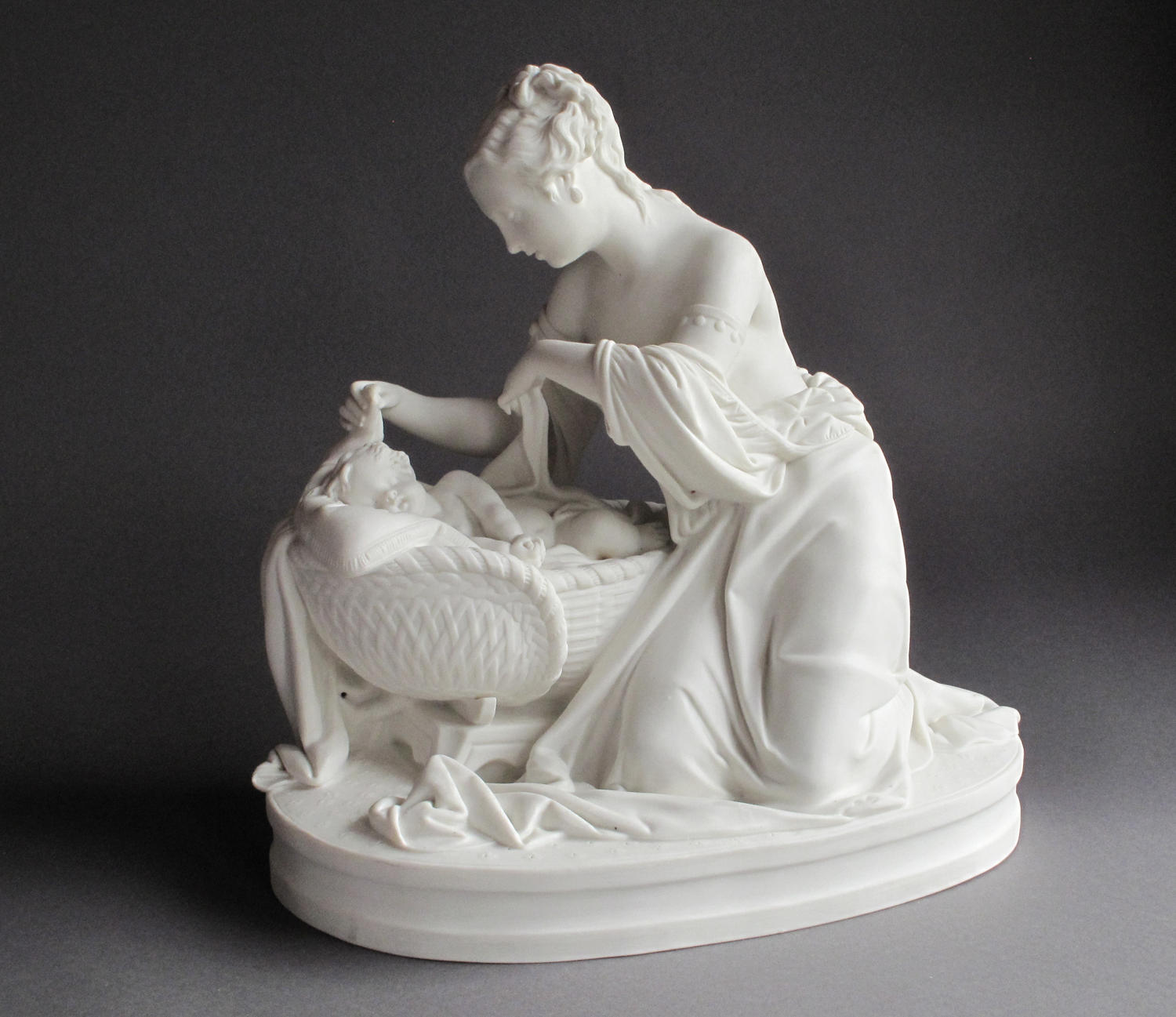 A charming Parian group of the Mother and First-Born by Minton