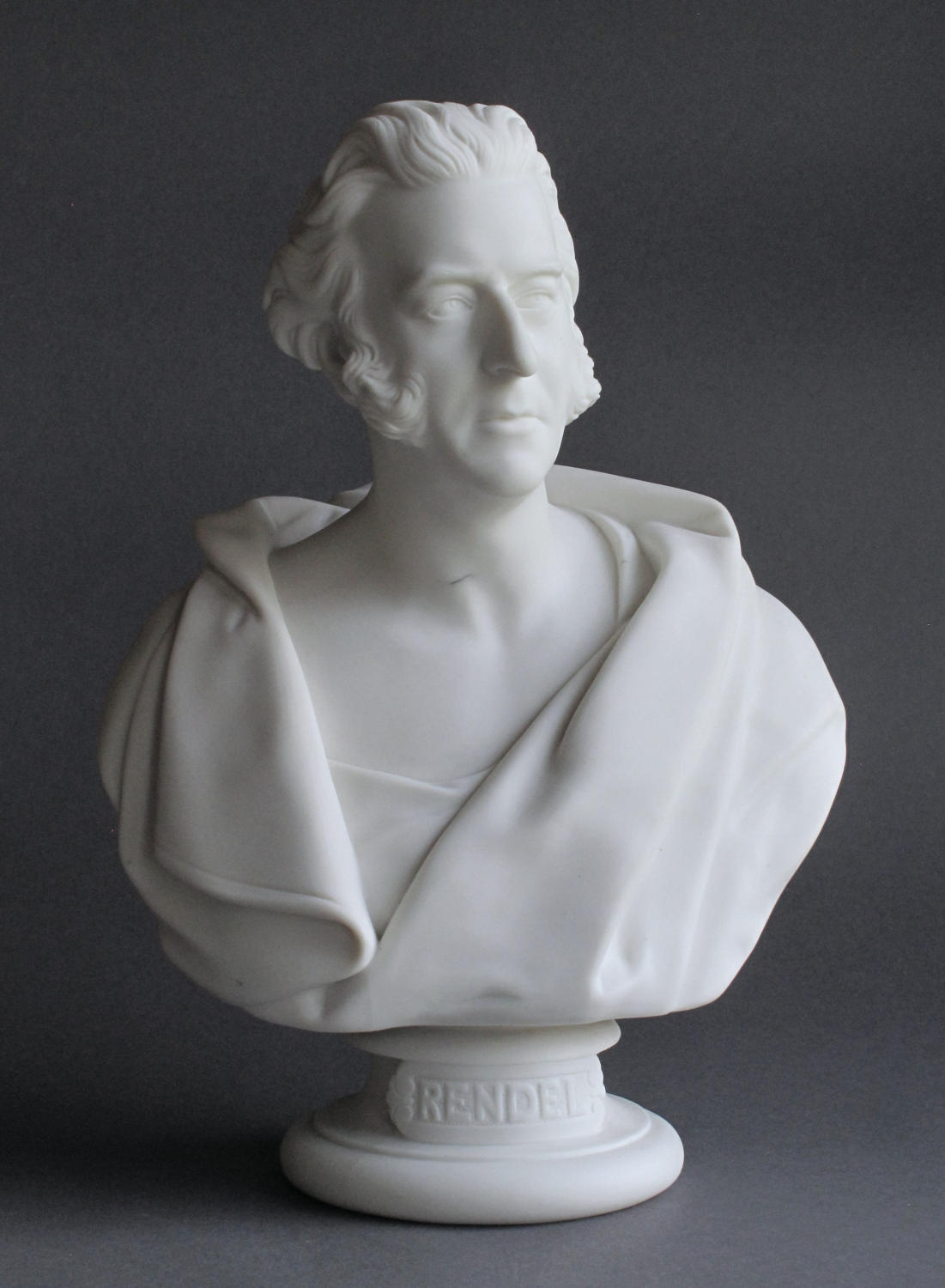 A Minton Parian bust of James Meadows Rendel