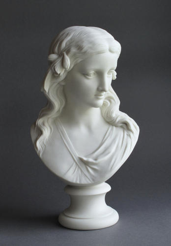 A Parian bust of Spring by Copeland
