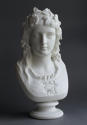 A good Parian bust of the Hop Queen by Copeland - picture 2