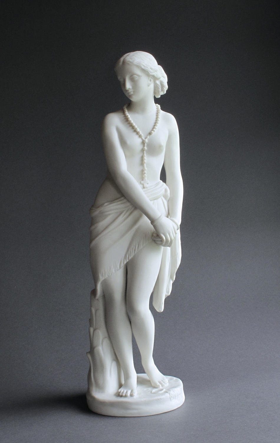 A Parian figure of the Abyssinian Slave by Minton