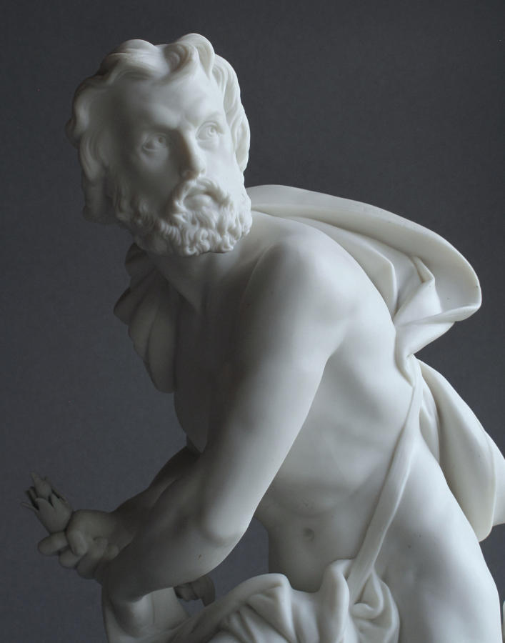 A good Minton Parian figure of Prometheus