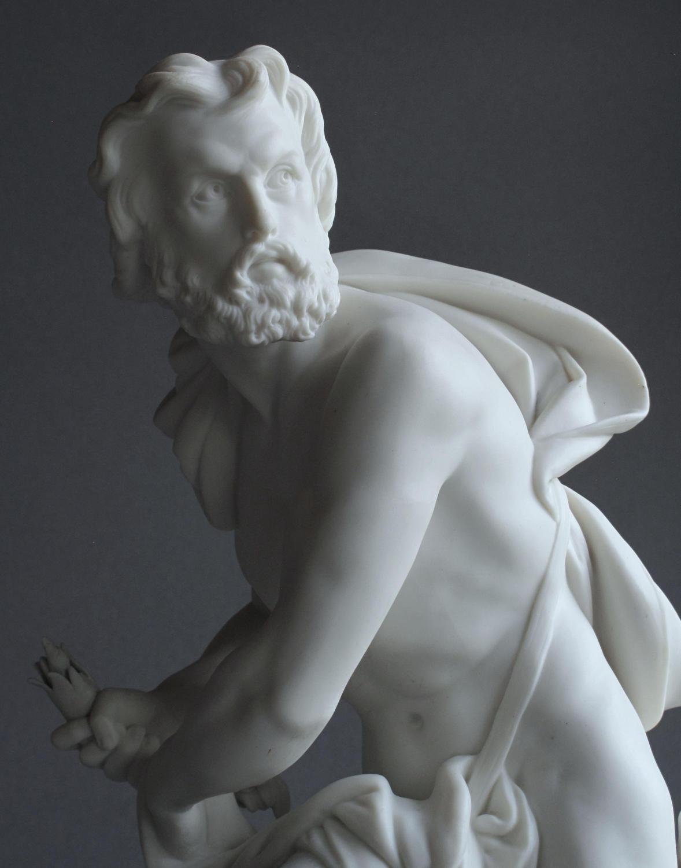 A good Minton Parian figure of Prometheus