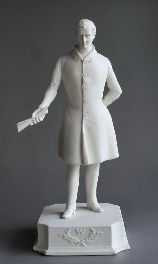 A rare Parian figure of The Duke of Wellington by Baguley