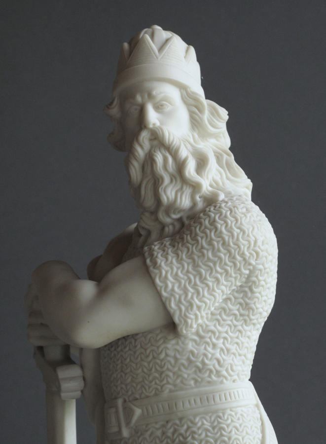 A finely-detailed Parian figure of Richard Coeur de Lion by R&L
