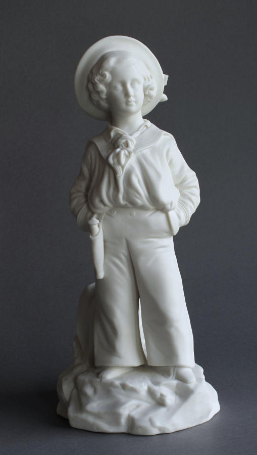 A charming Minton Parian figure of Prince Albert Edward as a child