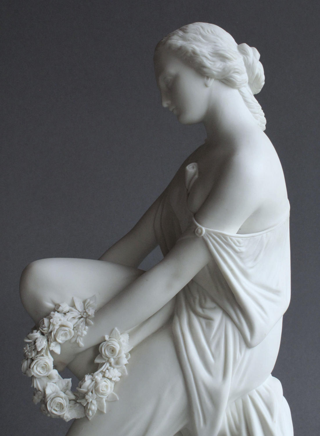 A Minton Parian figure of Lalage