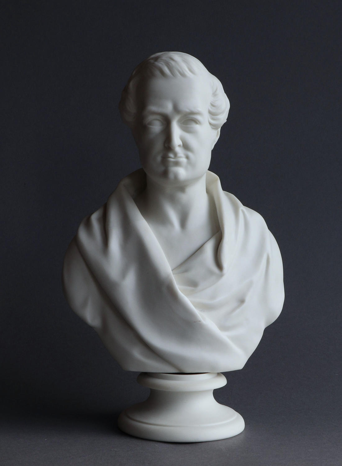 A Parian bust of Robert Peel by Samuel Alcock