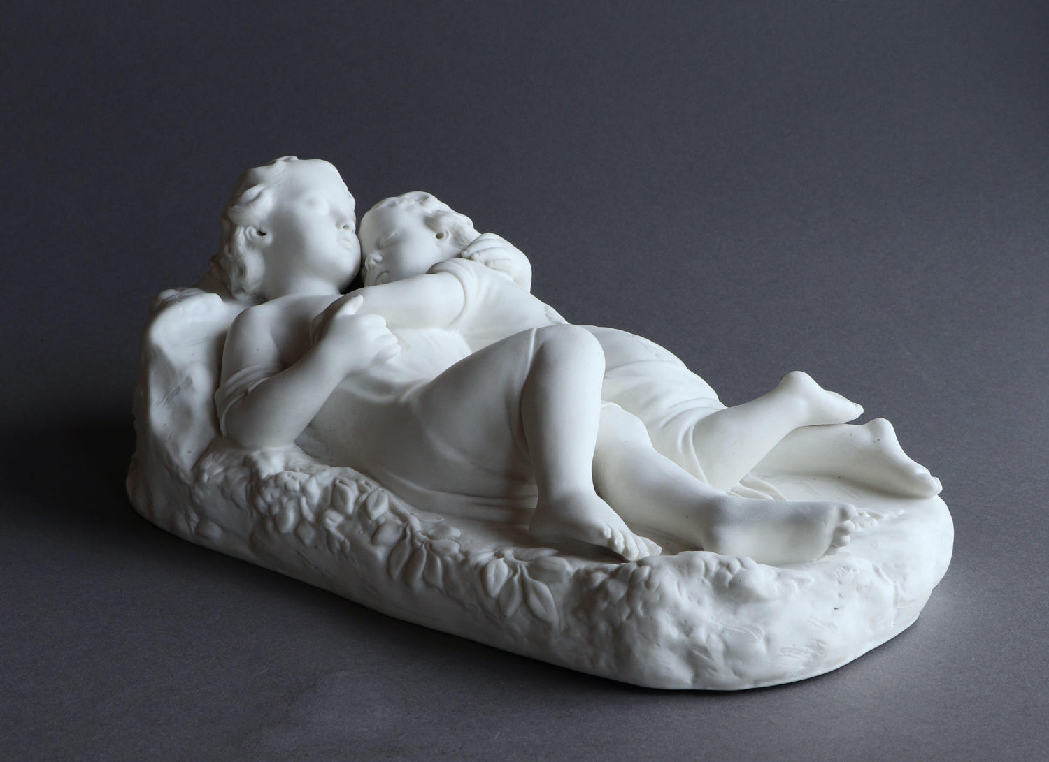 "A Parian group ""Babes in the Wood"""
