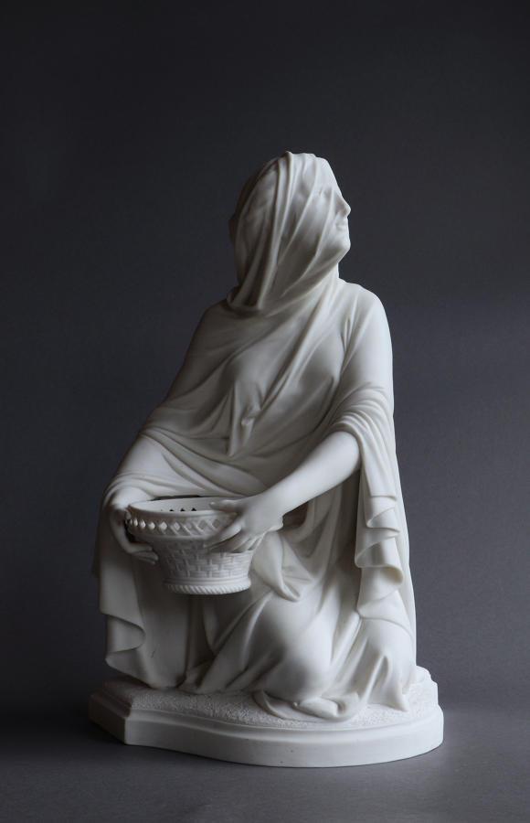 A Minton Parian figure of the Vestal Virgin by Carrier-Belleuse