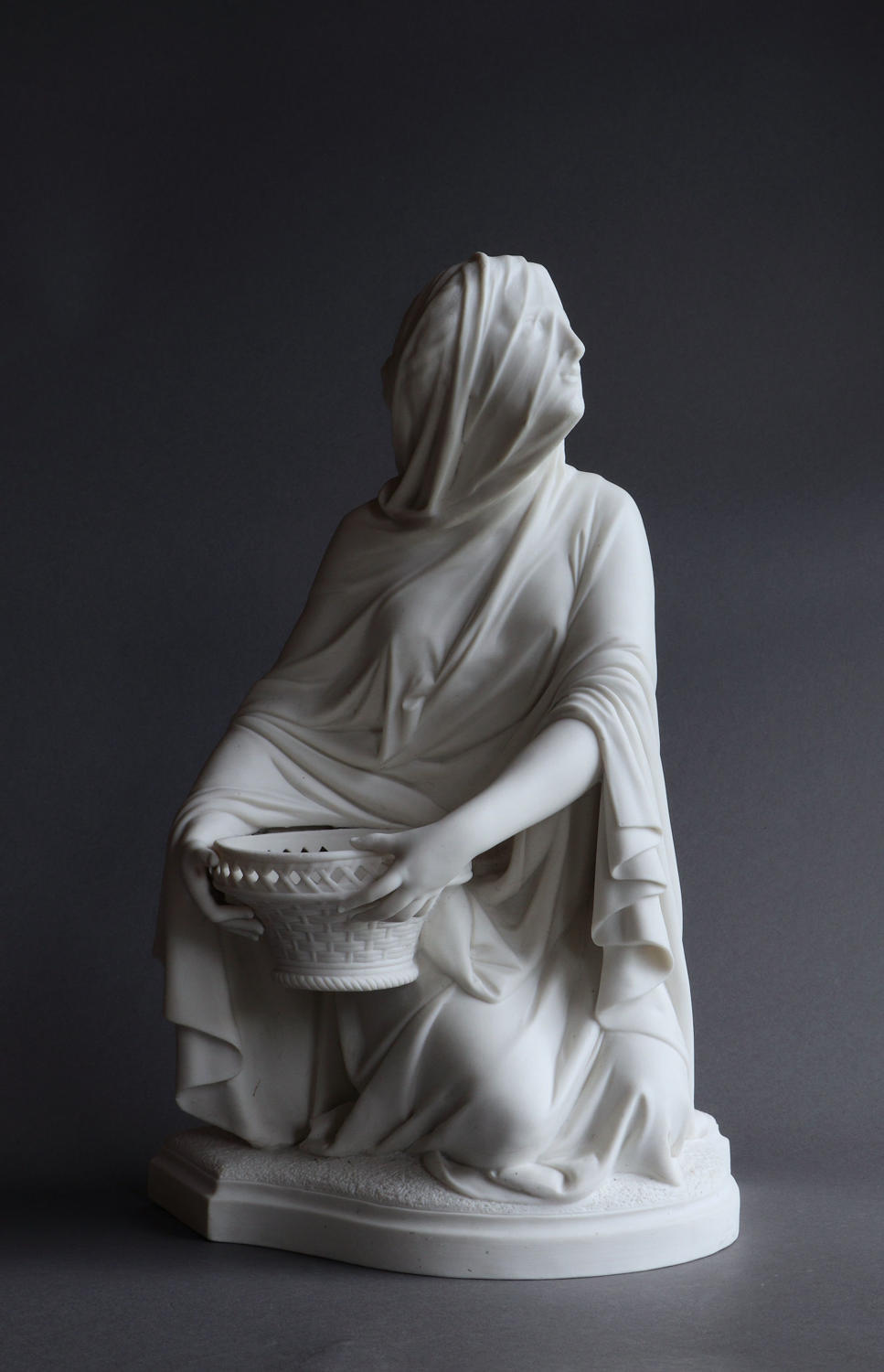 A Minton Parian figure of the Vestal Virgin by Carrier-Belleuse