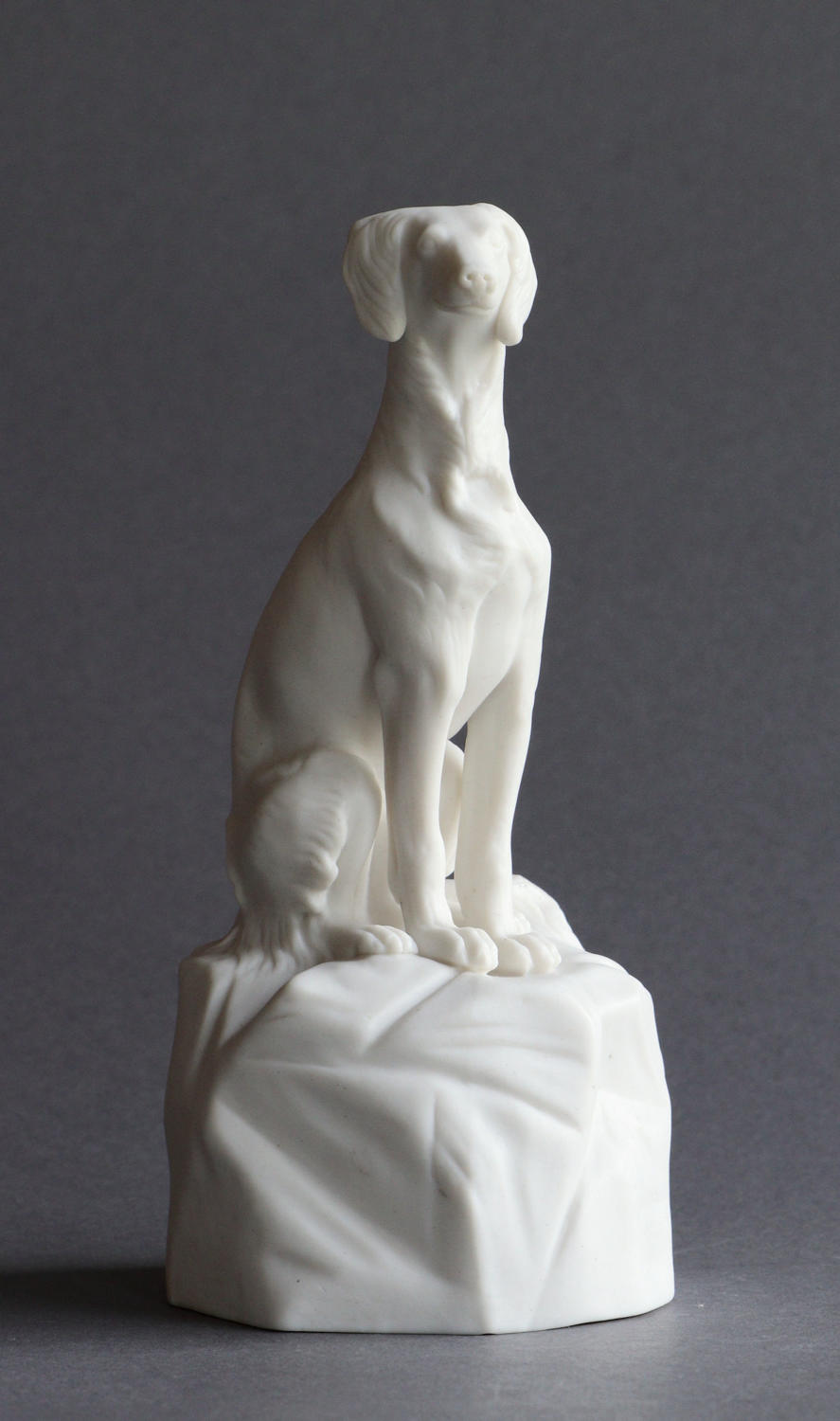 A Minton Parian figure of an Italian Greyhound or Saluki