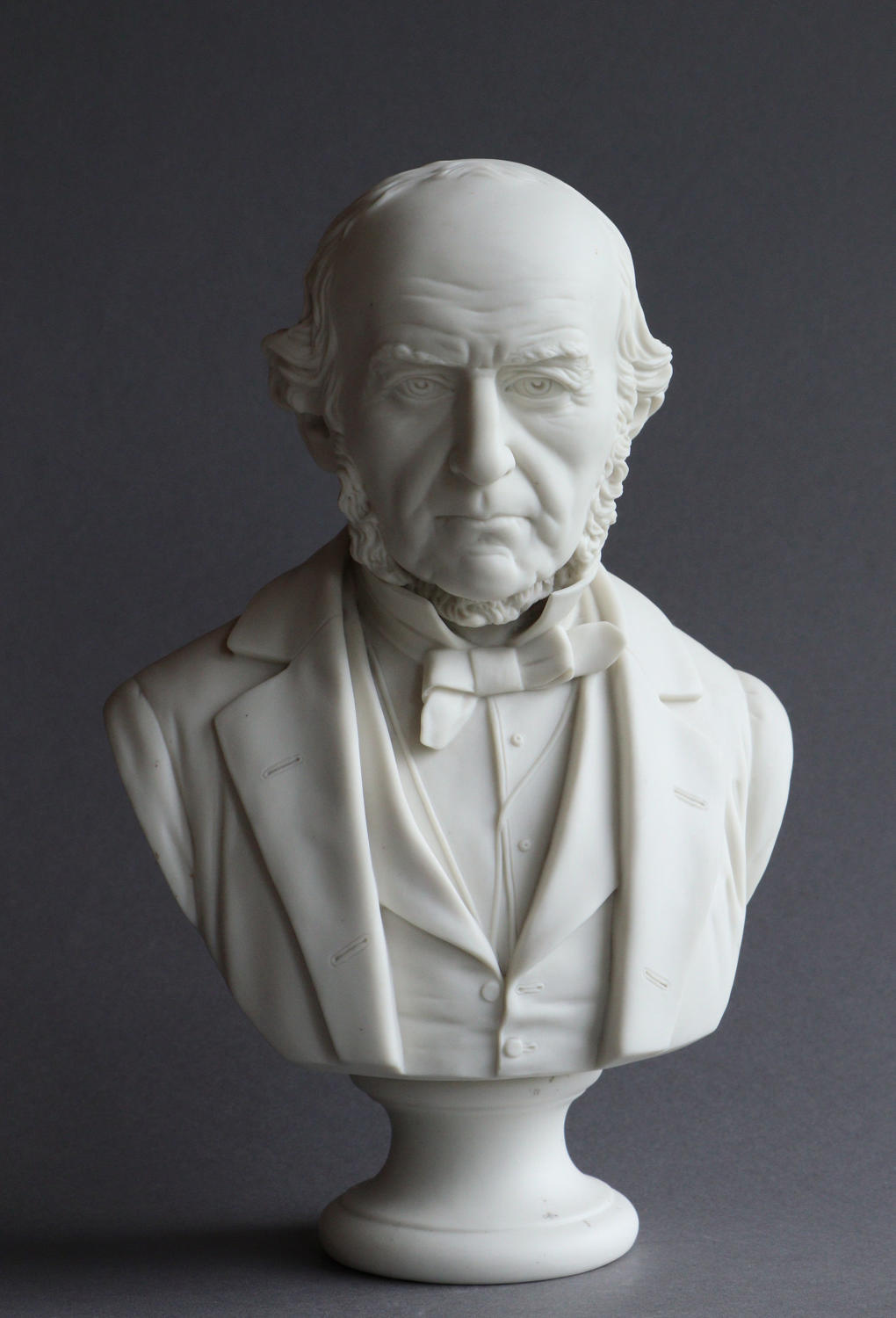A Parian bust of William Gladstone