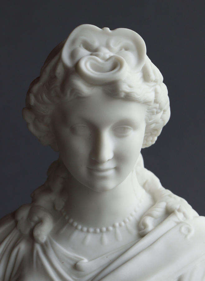A J&T Bevington Parian bust of Humour or Comedy