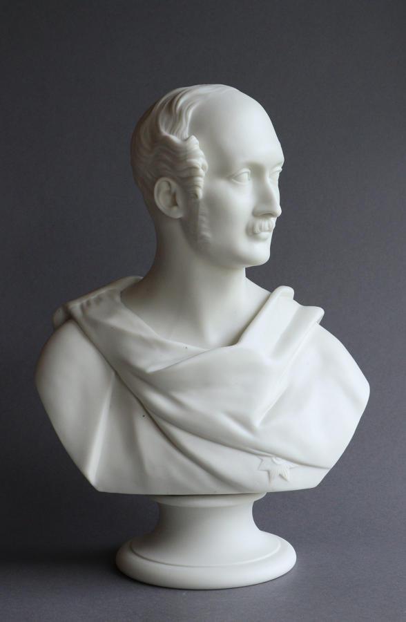 A fine Worcester Parian bust of Prince Albert by Ernest Jones