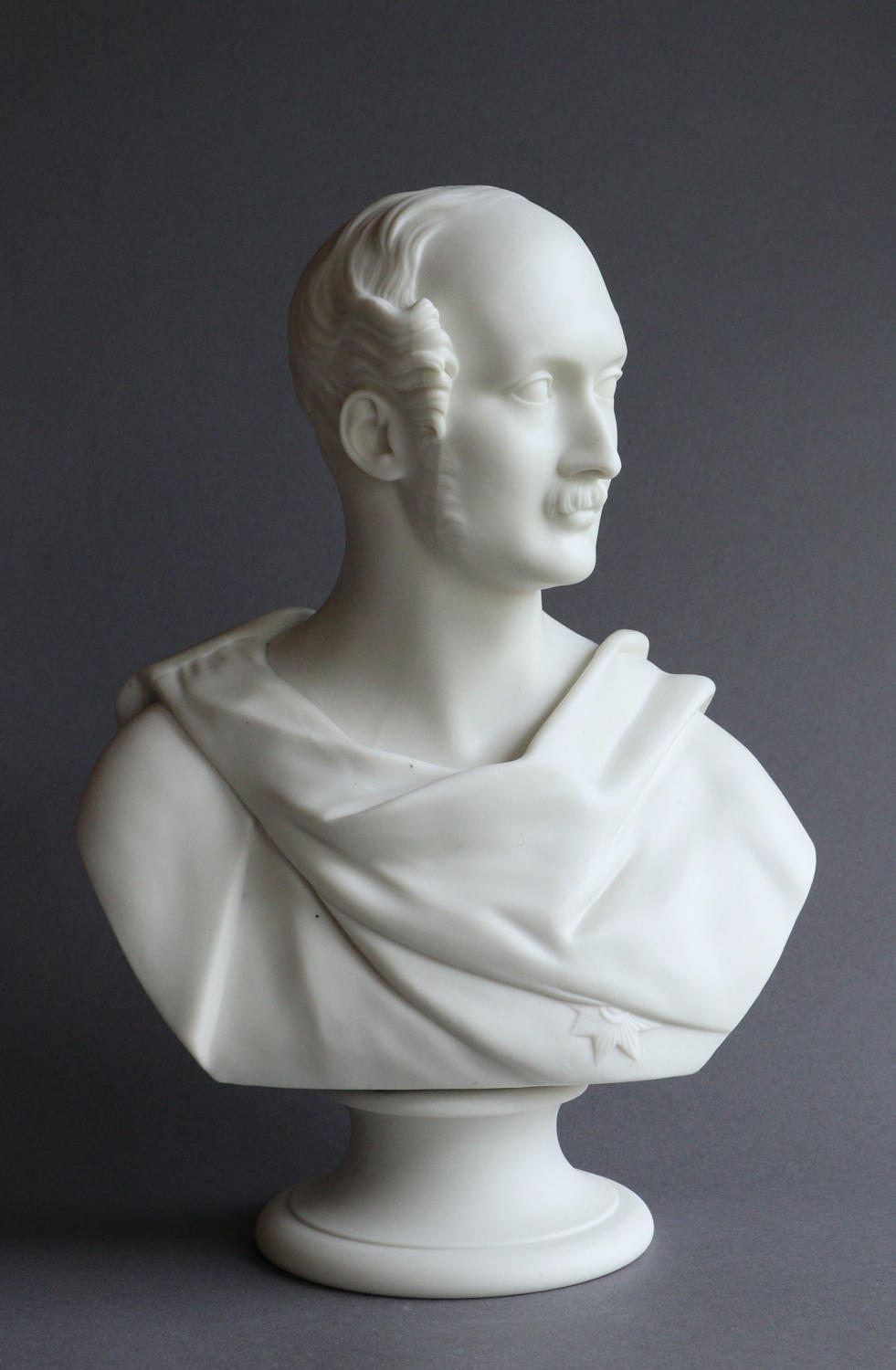 A fine Worcester Parian bust of Prince Albert by Ernest Jones
