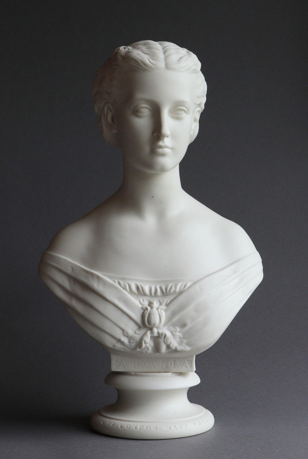 A Parian bust of Princess Alexandra by Copeland