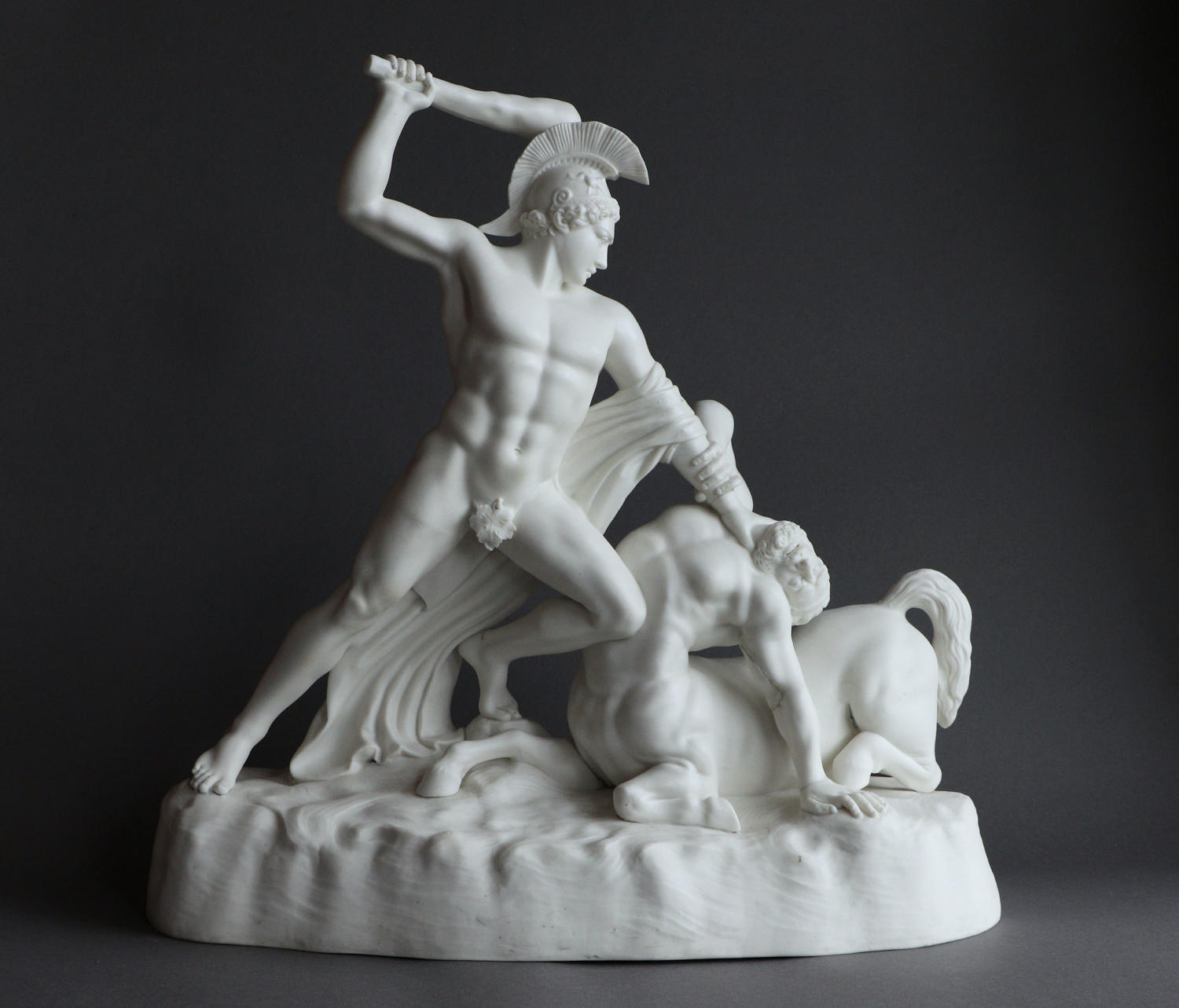 A rare Parian figure of Theseus & the Centaur by Keys and Mountford