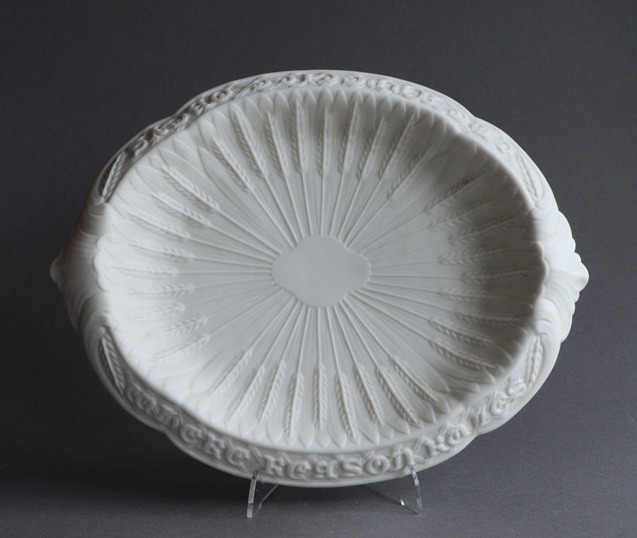 A Parian bread platter by Goss