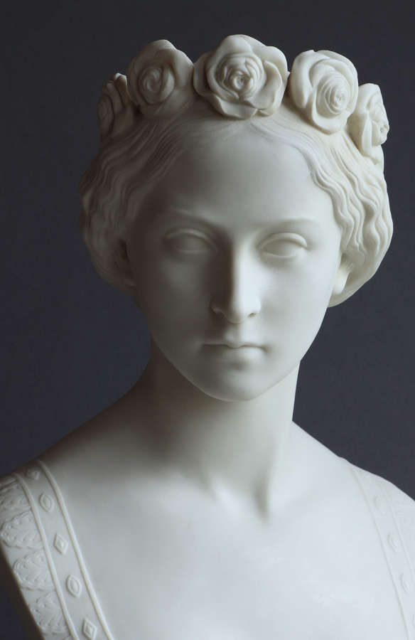 A Copeland Parian bust of Princess Alice