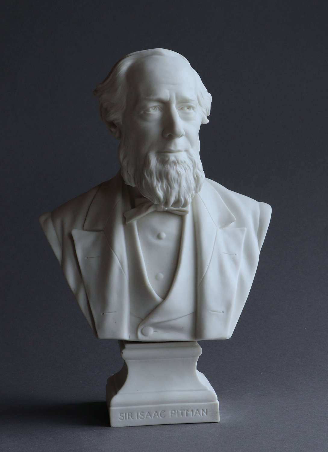 A Parian bust of Isaac Pitman by Robinson and Leadbeater