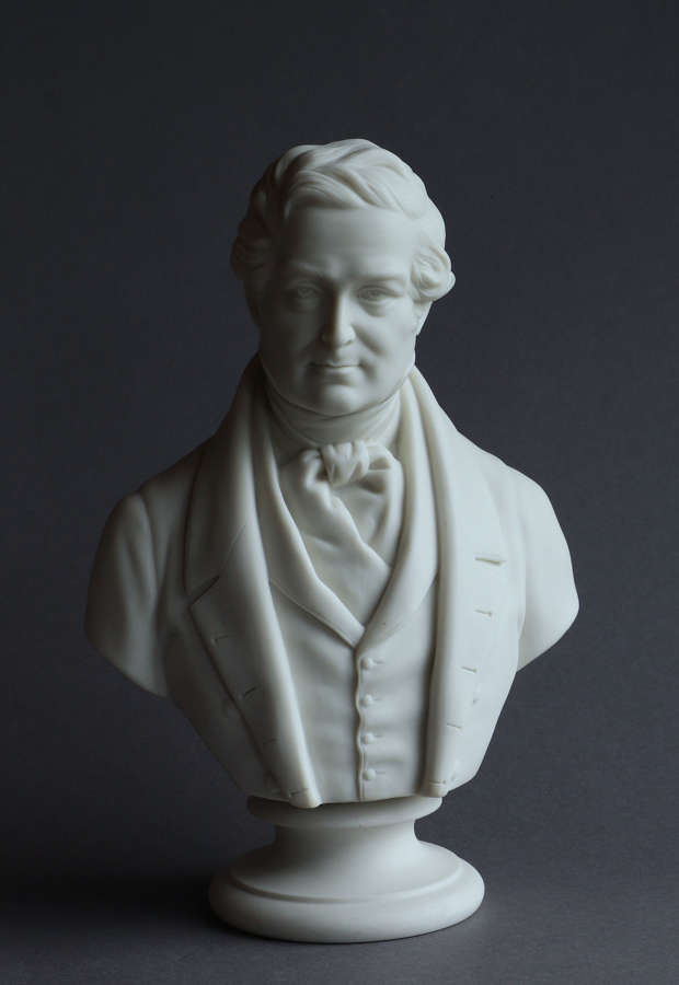 A Parian bust of Robert Peel by Copeland