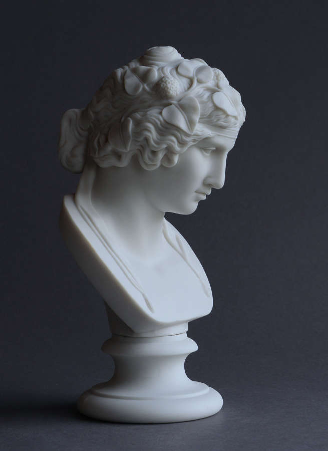 A small Parian bust of Antinous