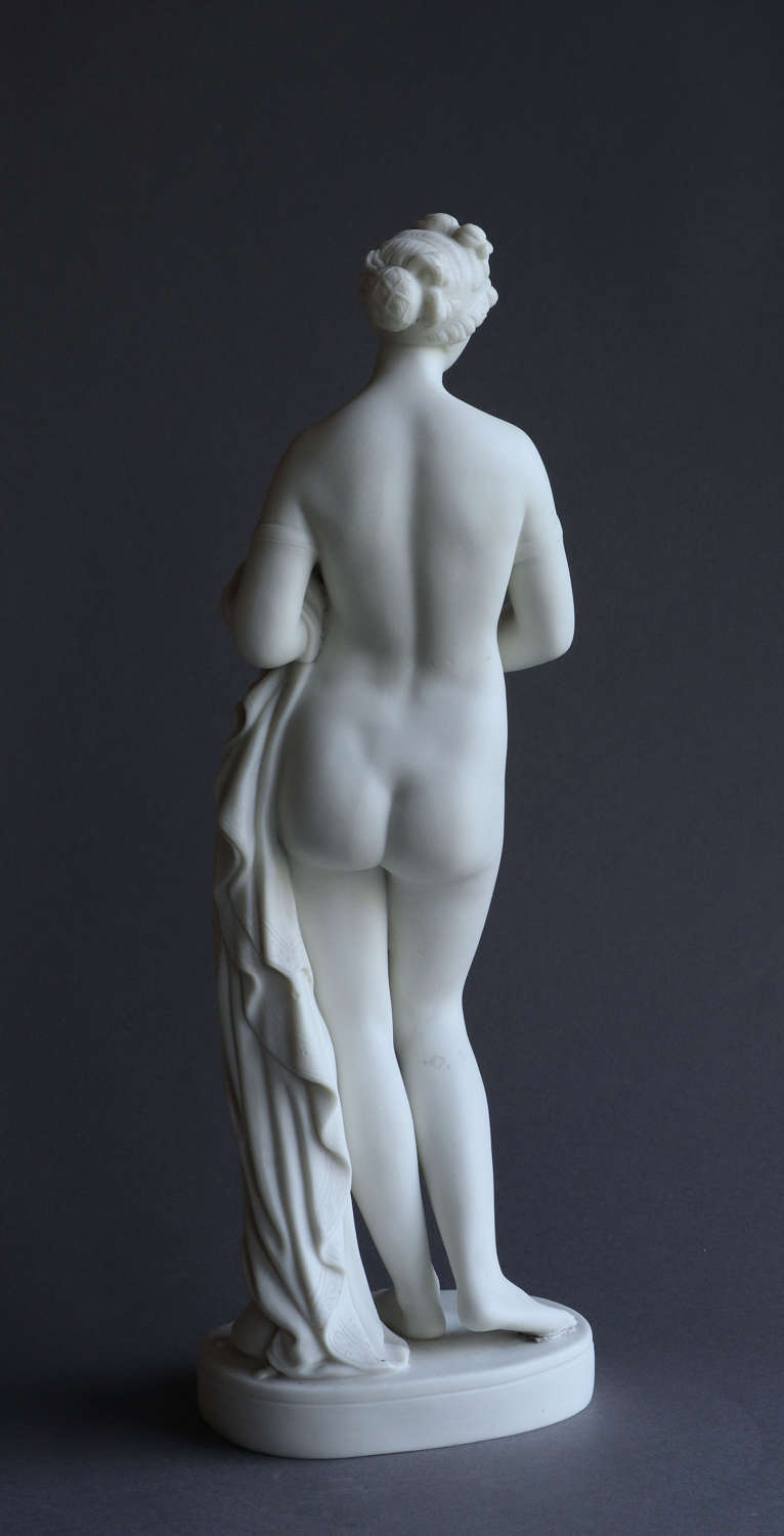 A Parian figure of the Tinted Venus, probably by Copeland