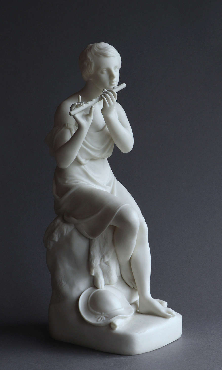 A Copeland Parian figure of The Flute Player