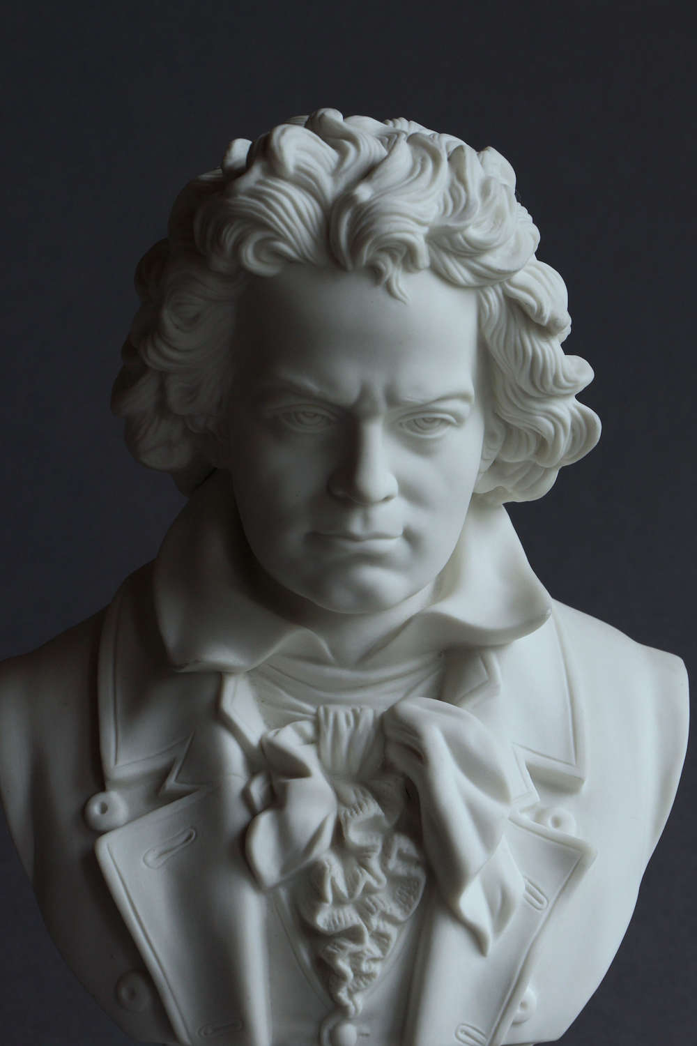 A medium Parian bust of Beethoven by Robinson & Leadbeater