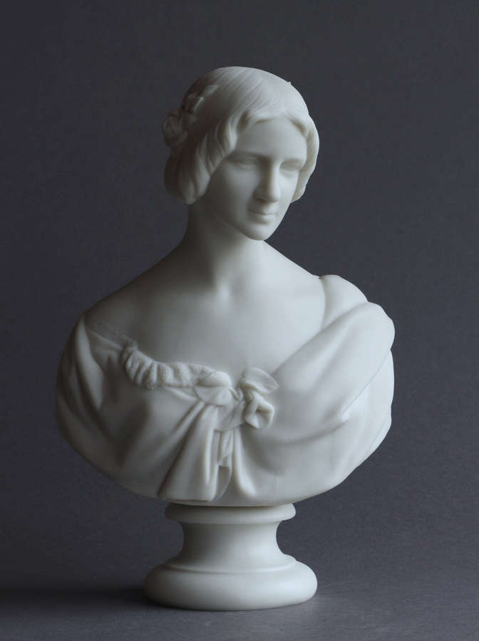 A small Copeland Parian bust of Jenny Lind