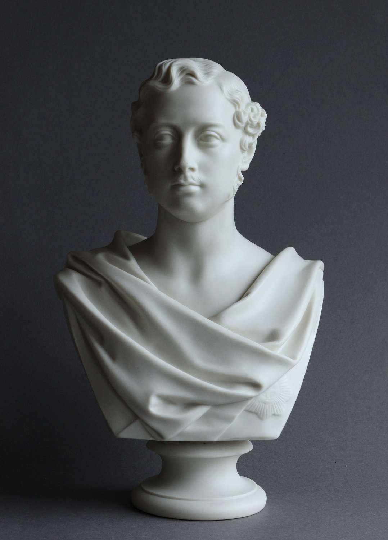 A Copeland Parian bust of Prince Albert Edward, dated 1863