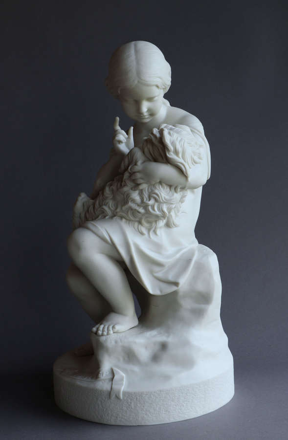 "A Copeland Parian figure of ""Go to Sleep"""