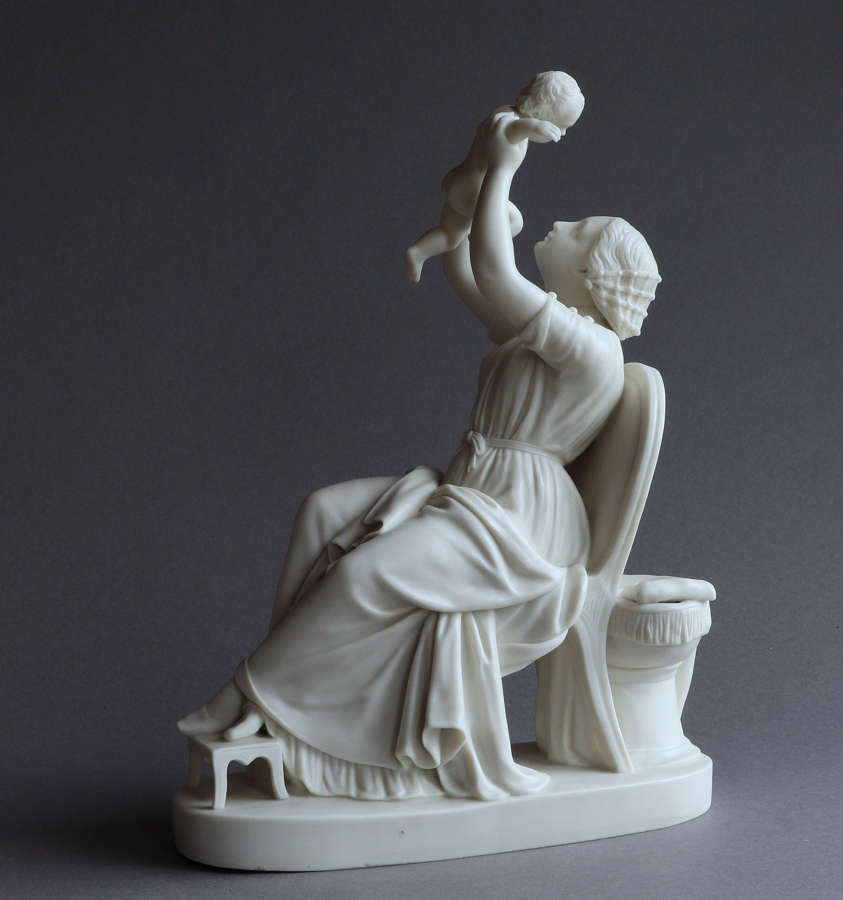 A Copeland Parian figure of the Happy Mother