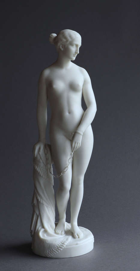 A Minton Parian figure of the Greek Slave