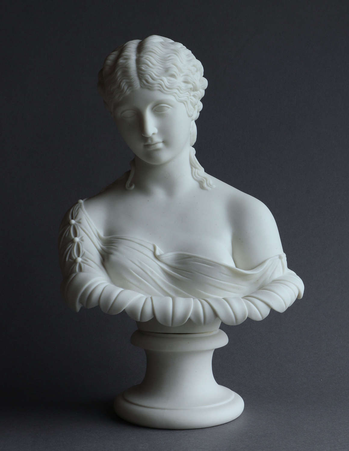 A Parian bust of Clytie from the antique