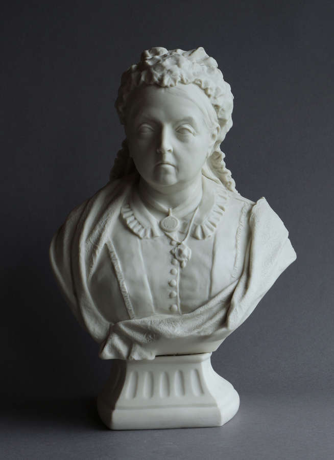 A large Parian Copeland Golden Jubilee bust of Queen Victoria