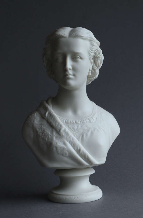 A Copeland Parian bust of Princess Alexandra