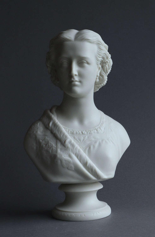 A Copeland Parian bust of Princess Alexandra
