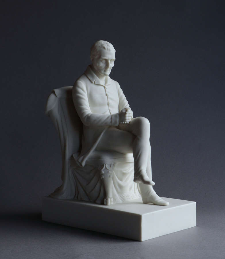 A Copeland Parian figure of the seated Duke of Wellington