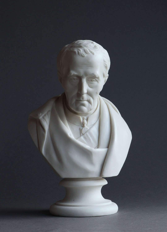 A Parian bust of Wellington by Coalport (John Rose & Co)