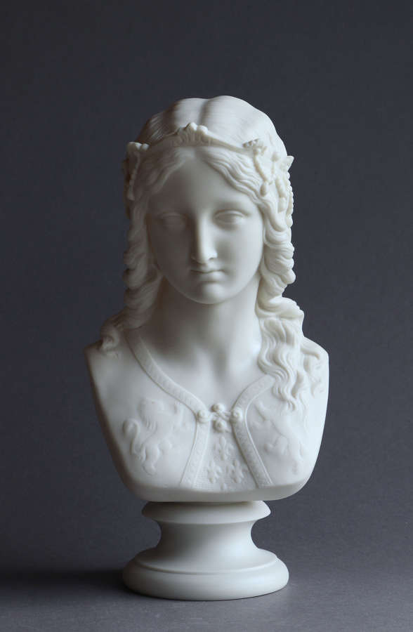 A Copeland Parian bust of Enid