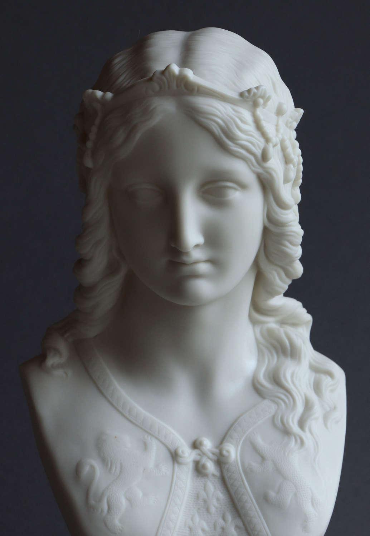 A Copeland Parian bust of Enid