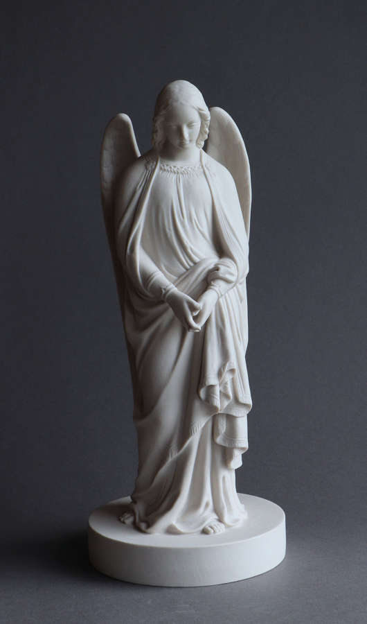 A Minton Parian figure of an angel