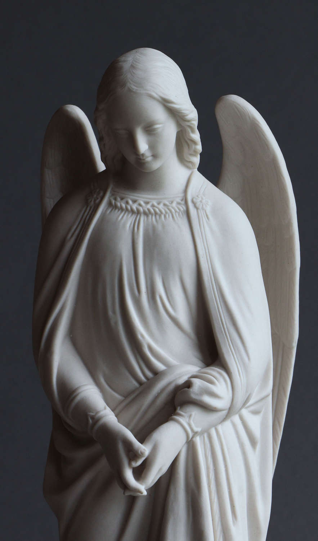 A Minton Parian figure of an angel