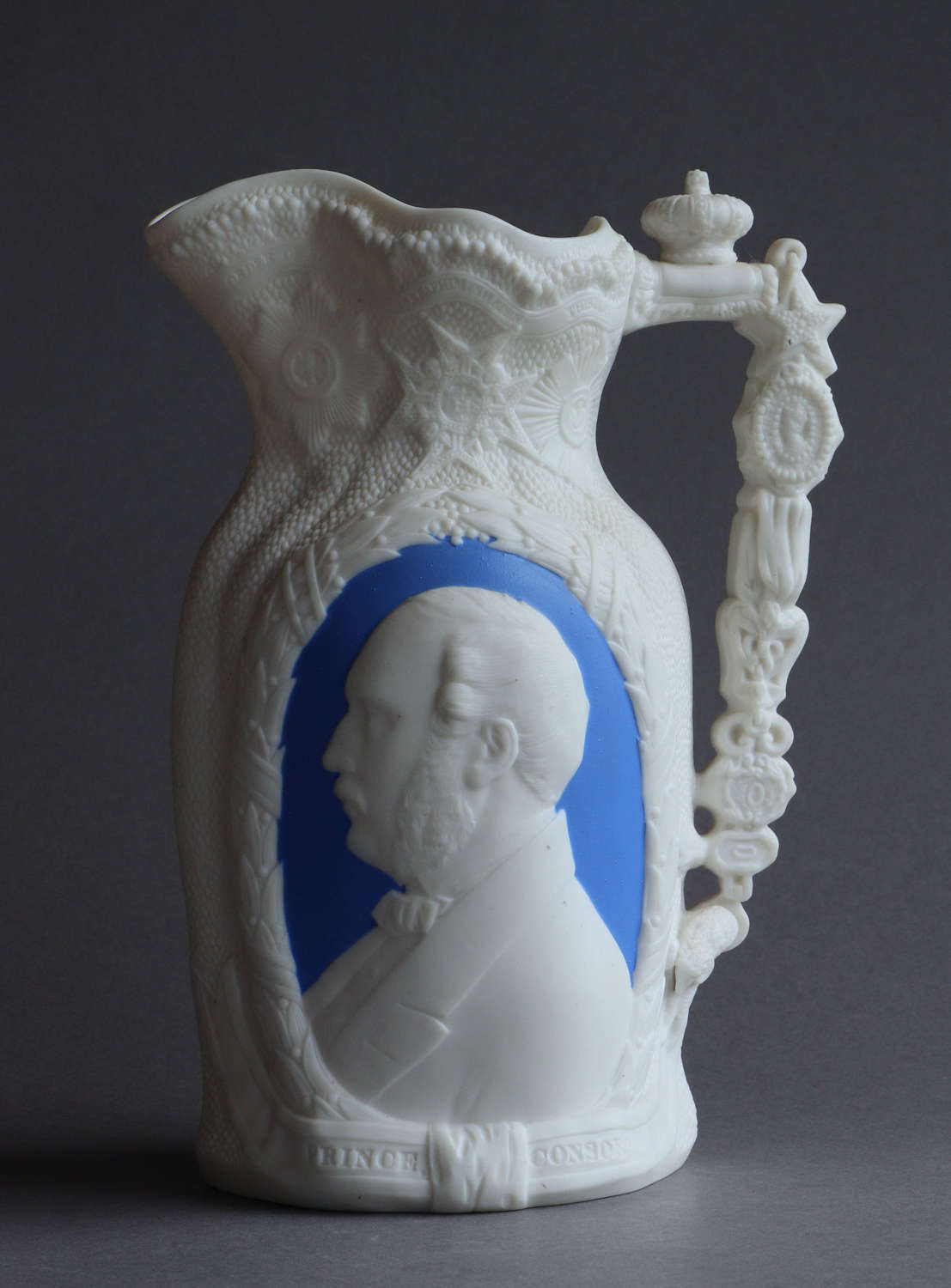 A Parian jug by OHE Co for the life of Prince Albert