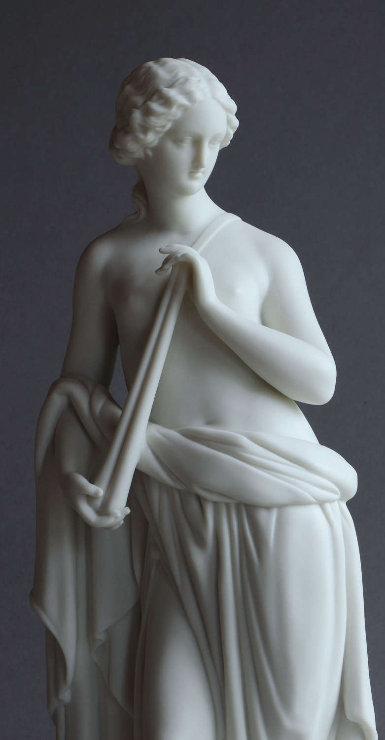 A Parian figure of Euterpe sculpted by Beattie